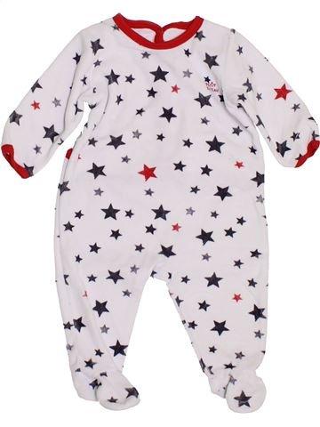 Pijama de 1 pieza niño PETIT BATEAU blanco 6 meses invierno #1400535_1
