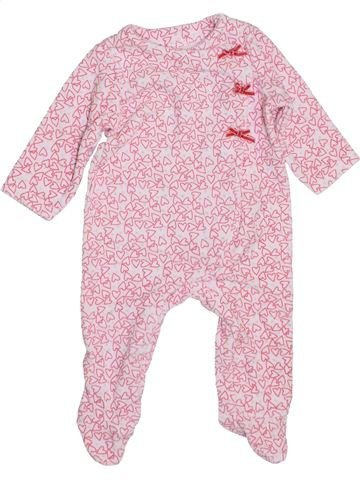 Pyjama 1 pièce fille TAPE À L'OEIL rose 6 mois hiver #1400537_1