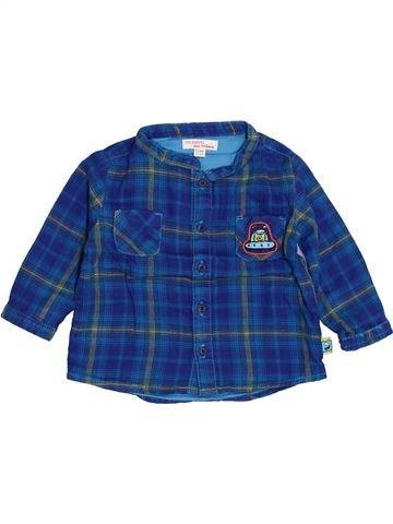 Chemise manches longues garçon DPAM bleu 9 mois hiver #1400607_1