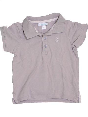 Polo manches courtes garçon OKAIDI gris 18 mois été #1400670_1