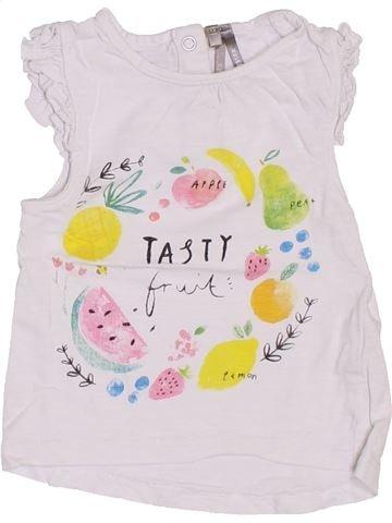 Camiseta de manga corta niña ORCHESTRA blanco 12 meses verano #1400786_1