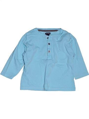 Camiseta de manga larga niño KIABI azul 12 meses invierno #1400849_1