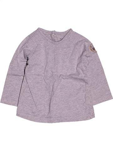 T-shirt manches longues garçon VERTBAUDET gris 12 mois hiver #1400851_1