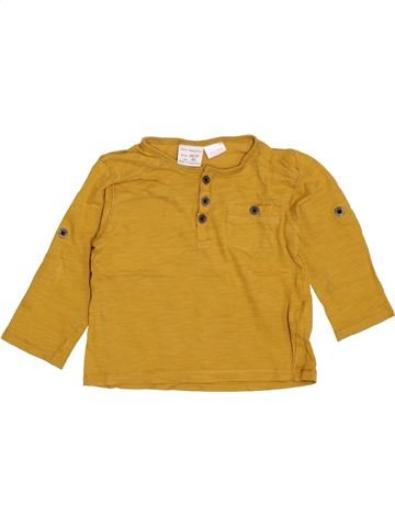T-shirt manches longues garçon ZARA marron 18 mois hiver #1400881_1