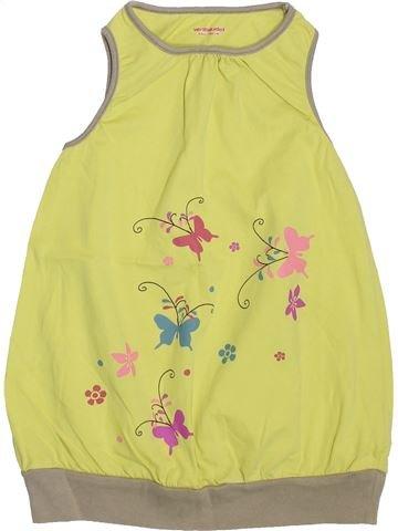 Robe fille VERTBAUDET jaune 4 ans été #1400933_1