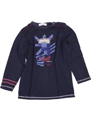 T-shirt manches longues garçon 3 POMMES bleu 3 ans hiver #1400943_1