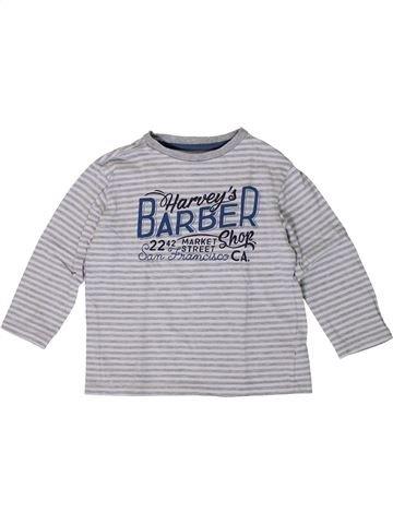 T-shirt manches longues garçon VERTBAUDET gris 4 ans hiver #1401014_1