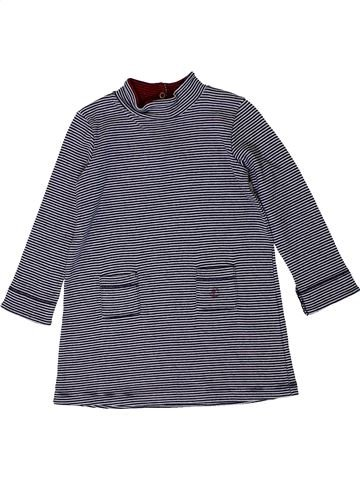 Robe fille PETIT BATEAU bleu 12 mois hiver #1401023_1