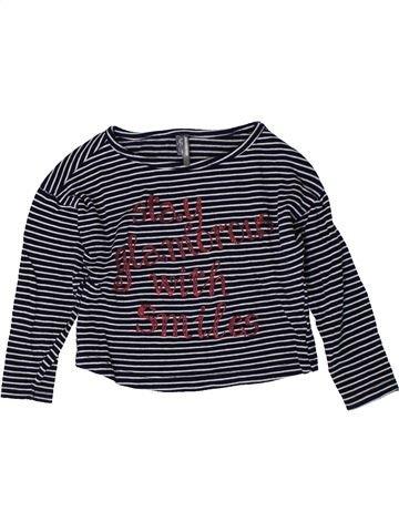 T-shirt manches longues fille ORCHESTRA bleu foncé 2 ans hiver #1401085_1