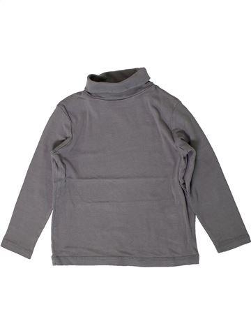 T-shirt col roulé garçon VERTBAUDET gris 5 ans hiver #1401122_1