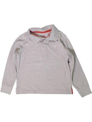 Polo manches longues garçon 3 SUISSES gris 4 ans hiver #1401130_1