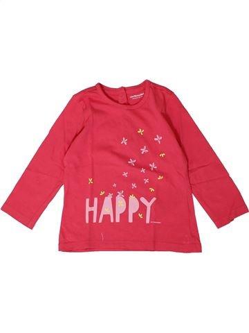Camiseta de manga larga niña VERTBAUDET rosa 18 meses invierno #1401162_1