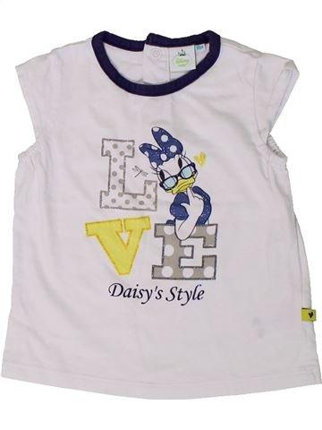 T-shirt manches courtes fille DISNEY blanc 18 mois été #1401217_1