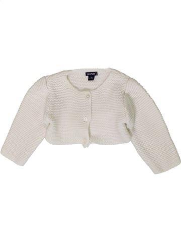 Chaleco niña KIABI blanco 9 meses invierno #1401232_1