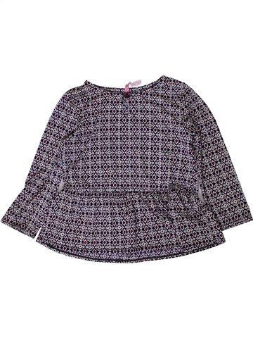 Blouse manches longues fille GEMO violet 3 ans hiver #1401275_1