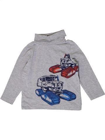 T-shirt col roulé garçon C&A gris 5 ans hiver #1401310_1