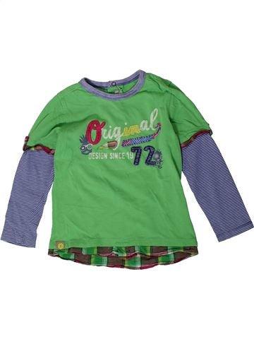 T-shirt manches longues garçon CATIMINI vert 4 ans hiver #1401357_1