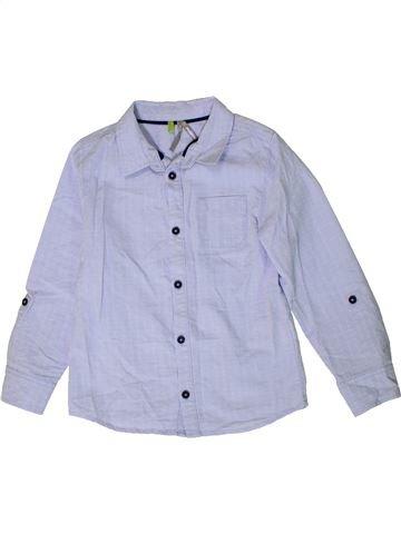 Chemise manches longues garçon ORCHESTRA bleu 5 ans hiver #1401370_1