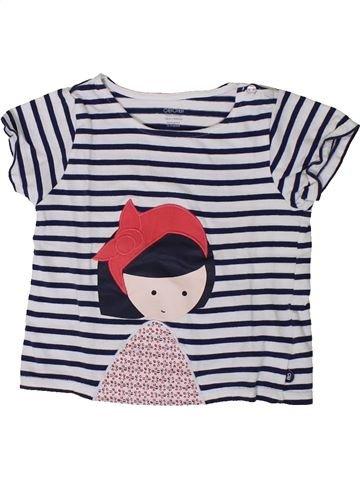 T-shirt manches courtes fille OKAIDI blanc 18 mois été #1401375_1