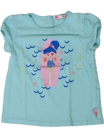 T-shirt manches courtes fille DPAM bleu 18 mois été #1401376_1