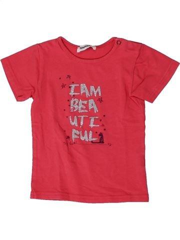 Camiseta de manga corta niña 3 POMMES rosa 18 meses verano #1401386_1