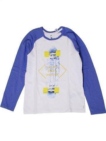 T-shirt manches longues garçon OKAIDI blanc 8 ans hiver #1401397_1