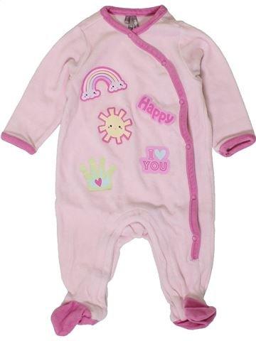 Pijama de 1 pieza niña ORCHESTRA rosa 6 meses invierno #1401423_1