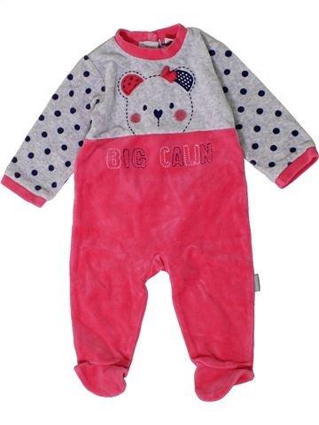 Pijama de 1 pieza niña ABSORBA rosa 6 meses invierno #1401427_1