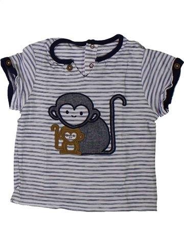 T-shirt manches courtes garçon OKAIDI gris 12 mois été #1401448_1