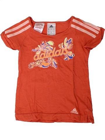 T-shirt manches courtes fille ADIDAS rouge 4 ans été #1401457_1
