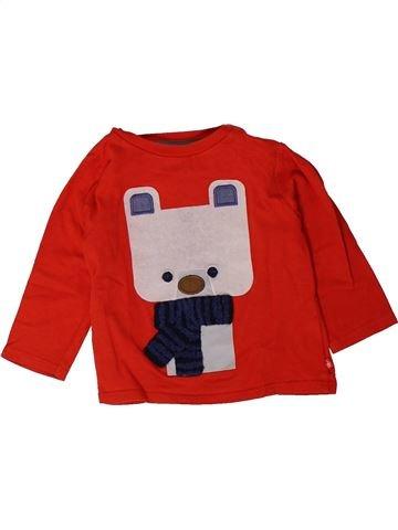 Camiseta de manga larga niño OKAIDI rojo 12 meses invierno #1401466_1
