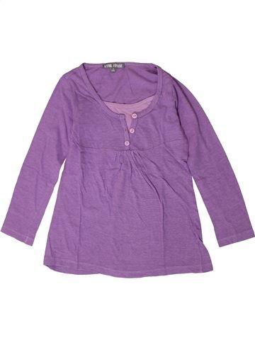 Camiseta de manga larga niña VYNIL FRAISE violeta 8 años invierno #1401496_1