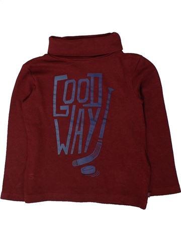 T-shirt col roulé garçon OKAIDI marron 3 ans hiver #1401529_1