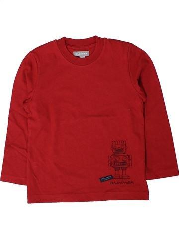 T-shirt manches longues garçon MINIMAN rouge 3 ans hiver #1401532_1