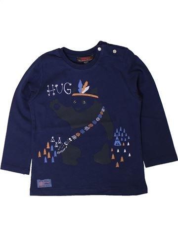 T-shirt manches longues garçon CATIMINI bleu 2 ans hiver #1401534_1