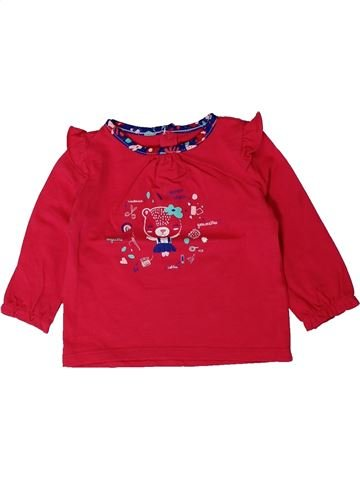 T-shirt manches longues fille SERGENT MAJOR rouge 12 mois hiver #1401608_1