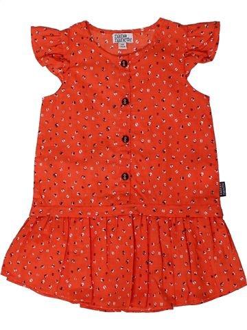 Vestido niña NANO & NANETTE rojo 12 meses verano #1401610_1