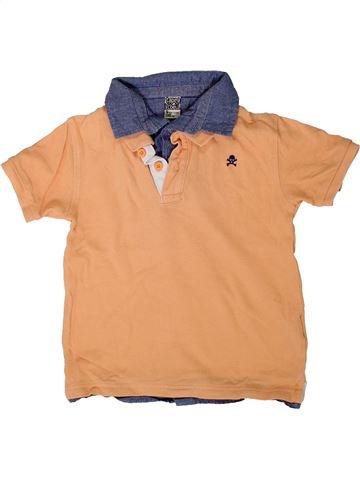Polo manches courtes garçon TAPE À L'OEIL orange 5 ans été #1401619_1