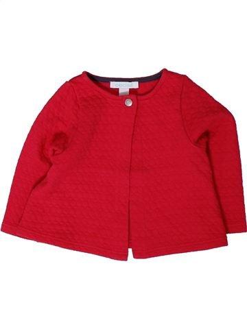Sweat fille OKAIDI rouge 12 mois hiver #1401636_1