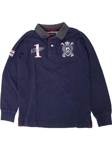 Polo manches longues garçon HACKETT bleu 8 ans hiver #1401644_1