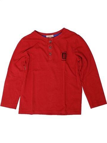T-shirt manches longues garçon DPAM rouge 6 ans hiver #1401704_1