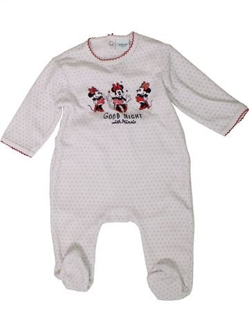 Pyjama 1 pièce fille DISNEY blanc 9 mois hiver #1401735_1