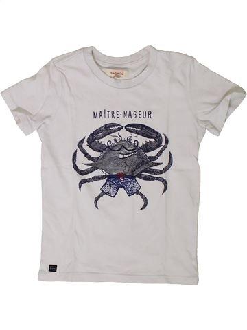 T-shirt manches courtes garçon CATIMINI blanc 4 ans été #1401758_1