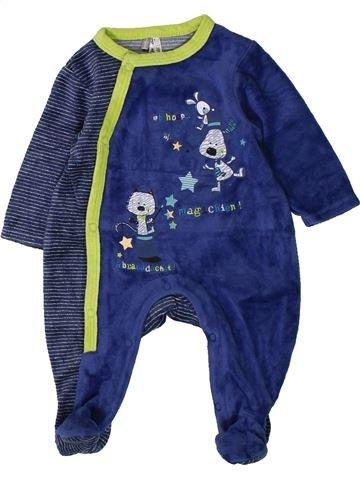 Pijama de 1 pieza niño ORCHESTRA azul 1 mes invierno #1401782_1