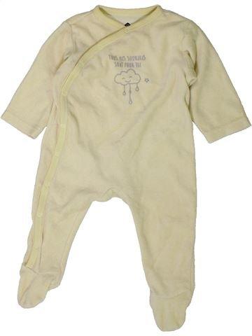 Pyjama 1 pièce unisexe GRAIN DE BLÉ beige 6 mois hiver #1401800_1