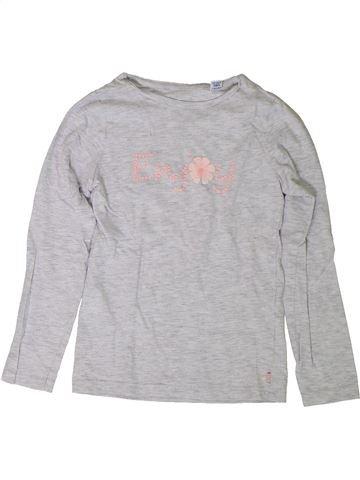 T-shirt manches longues fille OKAIDI gris 8 ans hiver #1401821_1