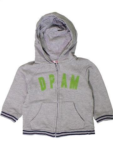 Sweat garçon DPAM gris 18 mois hiver #1401847_1