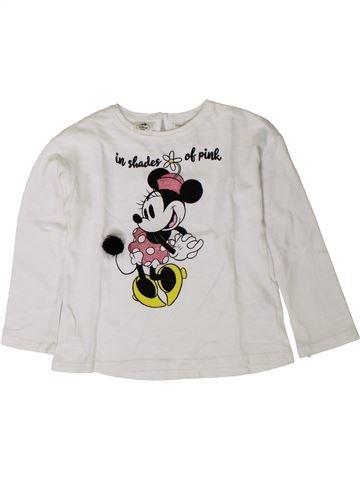Camiseta de manga larga niña ZARA blanco 4 años invierno #1402010_1