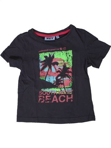 T-shirt manches courtes garçon KIABI noir 4 ans été #1402025_1