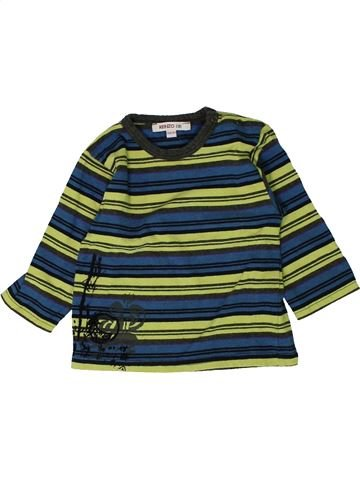 T-shirt manches longues garçon KENZO vert 18 mois hiver #1402041_1
